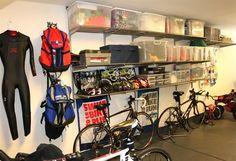 Awesome triathlon gear organization!