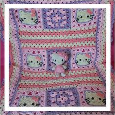 Hello Kitty Baby Blanket ~ free pattern ᛡ