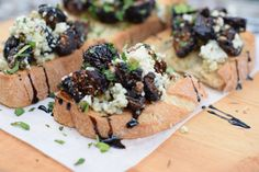 Gorgonzola and Fig Bruscetta from Cru Food and Wine Bar in Avalon