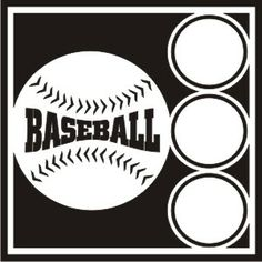 EZLaserDesigns : Baseball Circles scrapbook overlay sports layout