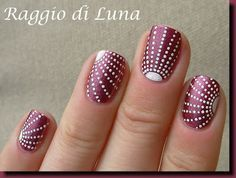Raggio di Luna Nails: Dots shower #nail #nails #nailart