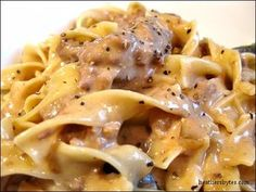 Crockpot Beef Stroganoff- This sounds so good and I love anything that spends time in a slow cooker! Yum!
