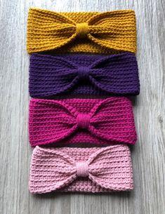 Easy Crochet Headbands, Crochet Headband Pattern, Knitted Headband, Knitting Patterns Free, Sewing Patterns, Crochet Patterns, Crochet Stitches, Knit Crochet, Crochet Hats