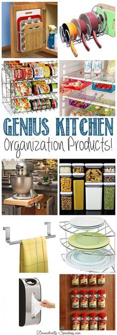 Genius Kitchen Organization Products that will help you get your kitchen organized