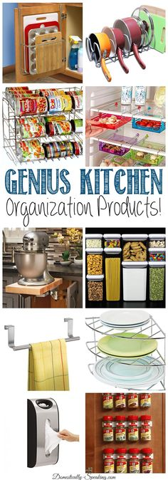 Genius Kitchen Organization Products that will help you get your kitchen organized