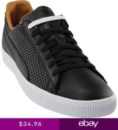 Puma Clyde Colorblock Sneakers- Black- Mens 9c8b08312