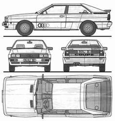 O modelo da Audi de 1980. Audi Quattro o primeiro modelo quatro tração integral. Assim se tornou um fenomeno!