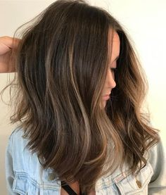 Are you going to balayage hair for the first time and know nothing about this technique? We've gathered everything you need to know about balayage, check! Dark Ombre Hair, Short Dark Hair, Short Hair With Bangs, Ombre Hair Color, Long Hair, Medium Hair Styles, Short Hair Styles, Biolage Hair, Langer Bob