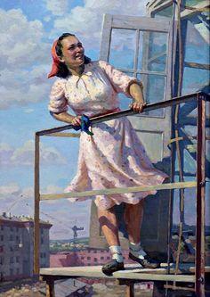 Григорьев-Савушкин Павел. «Крановщица»1955