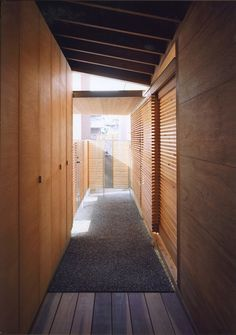Modern Wooden House from Japanese Architect - Alley