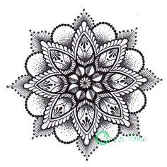 Another Picture of Mandala Rose Tattoo Design: Mandalas. Mandala Tattoo Design, Colorful Mandala Tattoo, Dotwork Tattoo Mandala, Dot Work Mandala, Mandala Rose Tattoo, Tattoo Designs, Mandala Drawing, Mandala Art, Lotus Mandala