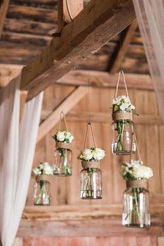 Burlap Wedding Decorations, Wedding Table Numbers, Table Wedding, Weding Decoration, Diy Reception Decorations, Barn Wedding Centerpieces, Love Decorations, Flower Decoration, Mason Jar Flowers