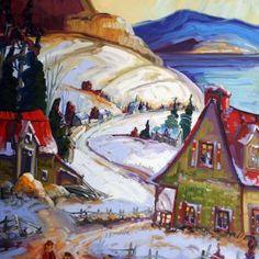 Promenade Charlevoix par Normand Boisvert 40 x 30 / Huile sur toile   #Quebec #Toile #Peinture #Painting #Art #Artist #paysage #hiver #winter #landscape Charlevoix, Land Scape, Les Oeuvres, Paintings, Gallery, Oil On Canvas, Normandie, Artist, Paint