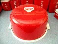 "Vintage ""Lustro ware"" Locking Cake Cover Set* | Flickr - Photo Sharing!"