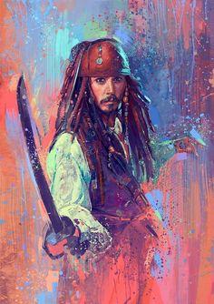 Beautiful art of Captain Jack Sparrow (Johnny Depp) 🎀🎀🎀 Deco Pirate, Pirate Art, Pirate Life, Jack Sparrow Drawing, Sparrow Art, Captain Jack Sparrow, Immer Harry Potter, Jack Sparrow Wallpaper, Film Anime