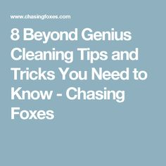 8 Beyond Genius Cleaning Tips and Tricks You Need to Know - Chasing Foxes