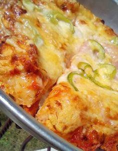 Πίτσα με πολύ αφράτο ζυμάρι! Cookbook Recipes, Cooking Recipes, Lasagna, Zucchini, Food And Drink, Pizza, Cheese, Meat, Vegetables