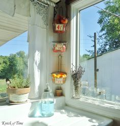 Knick of Time: Kitchen Remodel - A Room with a View  old fry baskets