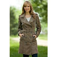 Love this suede trench coat