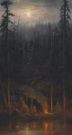 View Campfire Scene by Norton Bush on artnet. Browse upcoming and past auction lots by Norton Bush. Fantasy Places, Fantasy Art, Nature Pictures, Cool Pictures, Night Forest, Camper Hacks, Forest Painting, Aesthetic Painting, Bear Art