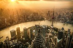 On Top of Shanghai by dennisliang86. @go4fotos
