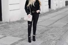 Ripped Jeans, Black Jeans, Suede Jacket, Jacket Style, Danish, Jasmine, Scandinavian, Minimal, Zara