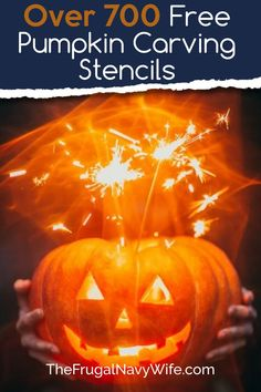 Want to make your home stand out on Halloween? Here are over 700 Free Pumpkin Carving Stencils for you can print out and carve your pumpkin with. #halloween #carvingpumpkins #freestencils #frugaldiy #frugalnavywife | Halloween | Jack O Lanterns | Pumpkin Carving Stencils | Carving Pumpkin Patterns | DIY Pumpkin Carving | Easy Patterns for Kids Teen Halloween Party, Halloween Themed Food, Diy Halloween Costumes For Women, Fete Halloween, Halloween Jack, Halloween Games, Halloween Pumpkins, Halloween Ideas, Halloween Projects