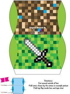 Minecraft treat boxes, free printable