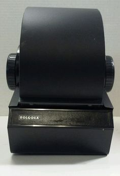 VINTAGE METAL LOCKING ROLODEX 2254D with CARDS & TABS #Rolodex