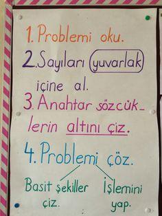 1. Sınıf matematik pano. Problem çözme.first grade math Eğitim http://turkrazzi.com/ppost/526428643928106192/