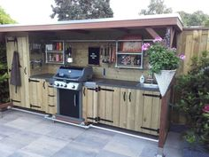 Outdoor kitchen made by my husband, proud ! – Outdoor kitchen made by my husba… Rustic Outdoor Kitchens, Build Outdoor Kitchen, Backyard Kitchen, Outdoor Dining, Rustic Kitchen Design, Outdoor Kitchen Design, Outdoor Island, Outdoor Grill Station, Outdoor Sinks