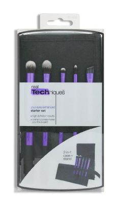 real Techniques Starter Set: Designed with pro makeup artist Samantha Chapman, real Techniques brushes combine high-tech materials with innovative design to make creating a pixel-perfect look easier than ever.