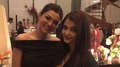Beauty Queens Aishwarya Rai Bachchan And Sushmita Sen Pose Together....