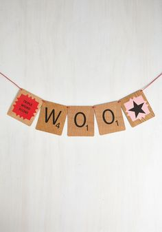 Word Up DIY Banner Home Gifts, Diy Gifts, Vintage Decor, Retro Vintage, Paper Pom Poms, Up Balloons, And So It Begins, Hobbies That Make Money, Diy Banner