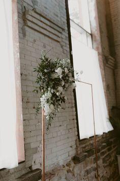 Modern Rooftop Wedding from Toronto, Ontario Wedding Arch Flowers, Ceremony Arch, Wedding Ceremony Decorations, Wedding Arches, Wedding Decor, Wedding Details, Chic Wedding, Wedding Styles, Rustic Wedding