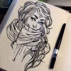 """jacquelindeleon: """" #sketchbook #moleskine #illustration #wip #artistsonig """""""