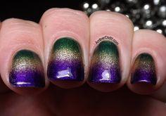 Amber did it!: Mardi Gras Gradient Nails