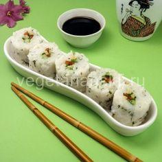 vegetarianskie rolly1 Japanese Sushi, Mashed Potatoes, Ethnic Recipes, Food, Whipped Potatoes, Smash Potatoes, Essen, Meals, Yemek