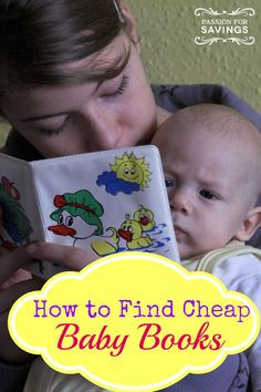 Find out how to find cheap baby books! #baby