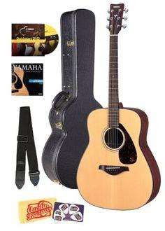 Save $ 120 order now Yamaha FG700S Folk Acoustic Guitar Bundle with Hard Case, I