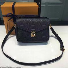 Louis Vuitton Monogram Empreinte Leather Pochette Metis Bag