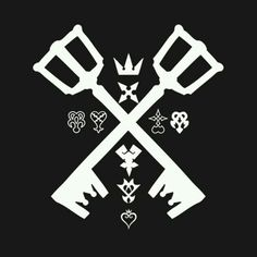 Check out this awesome 'Kingdom+Hearts+Logo' design on Kingdom Hearts Tattoo, Tatouage Kingdom Hearts, Kingdom Hearts Games, Kingdom Hearts Fanart, Kingdom Hearts Keyblade, Kingdom Hearts Wallpaper, Heart Wallpaper, 1 Tattoo, Print Tattoos