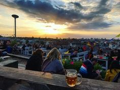 Sunset view from my favorite bar in Berlin : travel