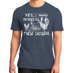 Apparels chickens District T-Shirt (on man)