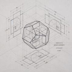 Rafael Araujo fusiona el arte y la ciencia ilustrando a mano la Proporción Áurea | Plataforma Arquitectura