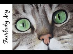 Dessiner des yeux de chat réalistes au Pastel - How to draw cat eyes with Pastel Zoo Drawing, Cute Cat Drawing, Wall Drawing, Woman Drawing, Realistic Eye Drawing, Realistic Rose, Creature Drawings, Animal Drawings, Draw Cats