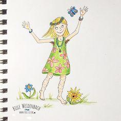"113/365 - ""I like the flowers I like the daffodils""  ... ach ja ""and my bodyhair!"" (!!!! just kidding !!!) - Thema BUSCH (bush) . . . . . . #365doodlesmitjohanna @byjohannafritz  #kidlitart #girlie #characterdesign #singing #kinderbuchillustration #hair #characterdesign #sketchbook #doodle #illustree #illustratorlife #illustrate #drawing  #drawnbyhand #illustratorenorganisation #doodle #doodleart #doodledaily #drawdaily #bookfair #bookillustration #kidsbookillustration #kidsbook…"