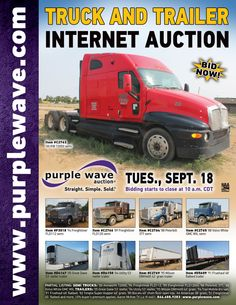 Truck and Trailer Auction  September 18, 2012  http://purplewave.co/120918