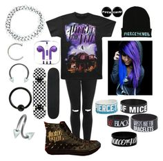 """""""Pierce The Veil"""" by islandformisfits ❤ liked on Polyvore featuring Topshop, Converse, ASOS, emo, scene and piercetheveil"""