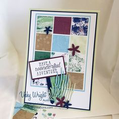 Tranquil Textures Suite, Tranquil Textures DSP, Sea of Textures, Under the Sea Framelits, Free Tutorial, Stampin' Up! #tranquiltexturessuite #tranquiltexturesdsp #seaofcreatures #loveitchopit #makeacardsendacard #stampinup